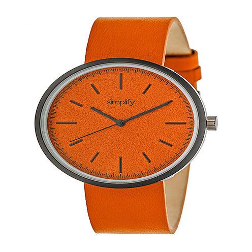 Simplify Unisex Orange Strap Watch-Sim3003