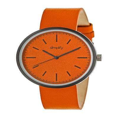 Simplify Unisex Orange Strap Watch-Sim3003