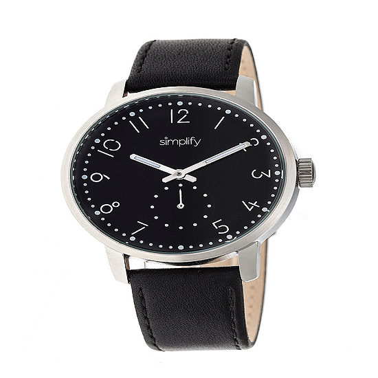 Simplify Unisex Black Strap Watch Sim3402