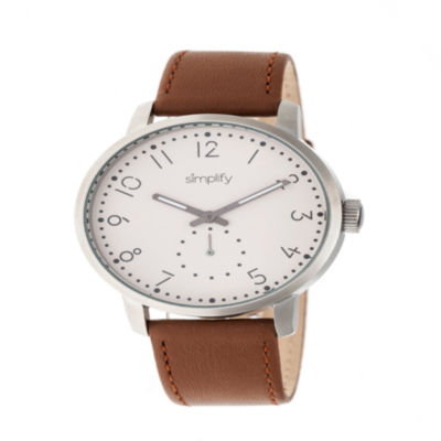 Simplify Unisex Brown Strap Watch-Sim3403