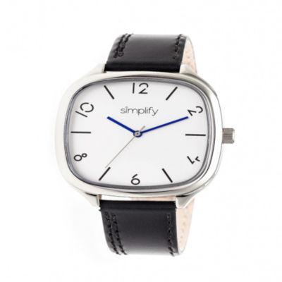 Simplify Unisex Black Strap Watch-Sim3501
