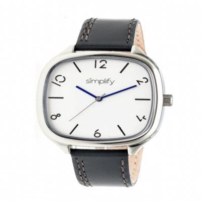 Simplify Unisex Gray Strap Watch-Sim3502