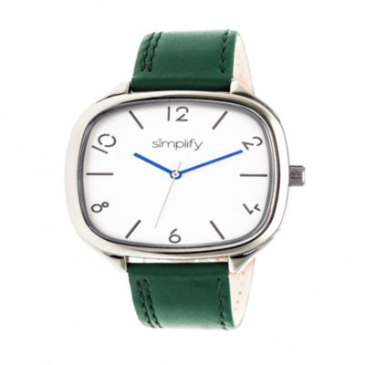 Simplify Unisex Green Strap Watch-Sim3504