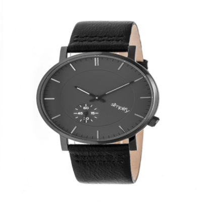 Simplify Unisex Black Strap Watch-Sim3604