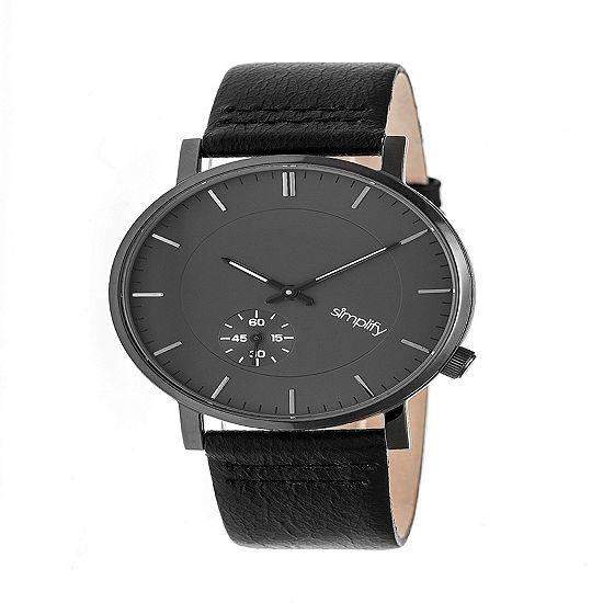 Simplify Unisex Black Strap Watch-Sim3604