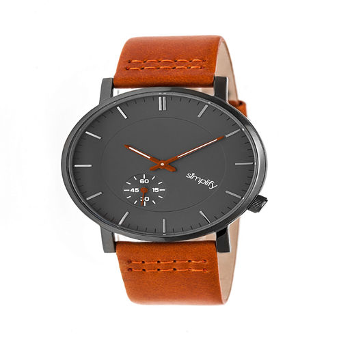 Simplify Unisex Orange Strap Watch-Sim3607