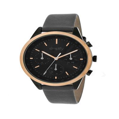 Simplify Unisex Gray Strap Watch-Sim3807
