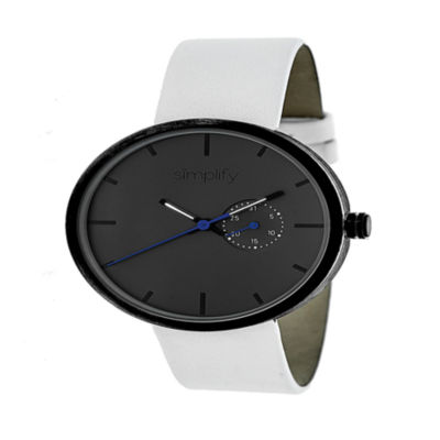Simplify Unisex White Strap Watch-Sim3901