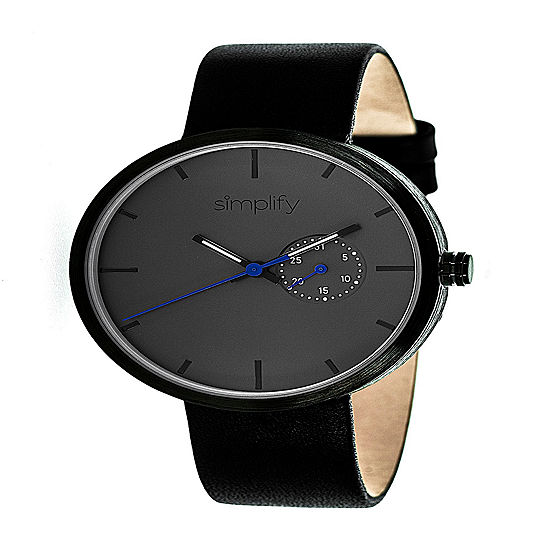 Simplify Unisex Black Strap Watch-Sim3902