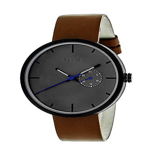 Simplify Unisex Brown Strap Watch Sim3904