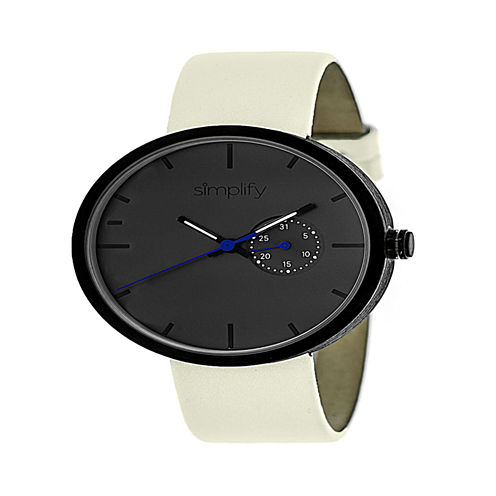 Simplify Unisex White Strap Watch-Sim3905