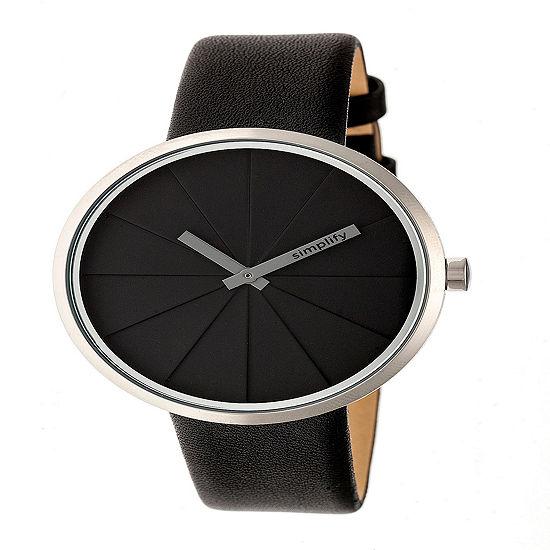 Simplify Unisex Black Strap Watch-Sim4007