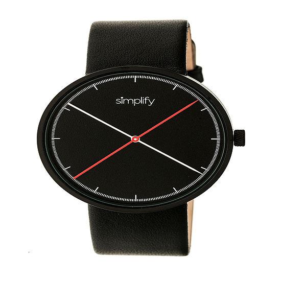 Simplify Unisex Black Strap Watch-Sim4101