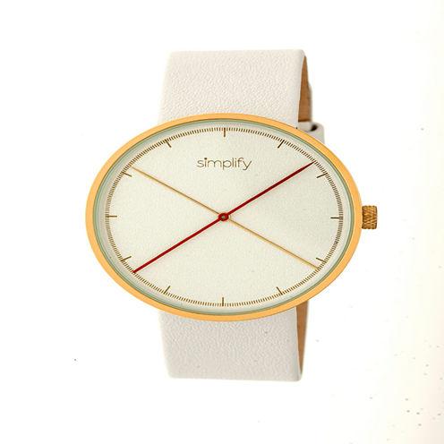 Simplify Unisex White Strap Watch-Sim4104