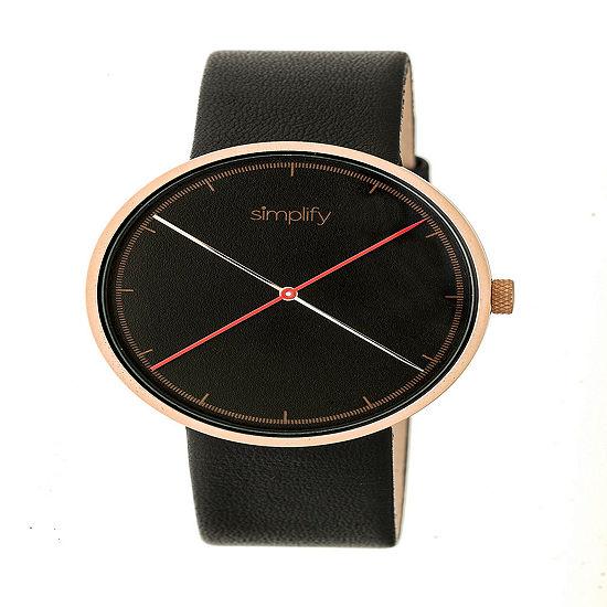 Simplify Unisex Black Strap Watch-Sim4106