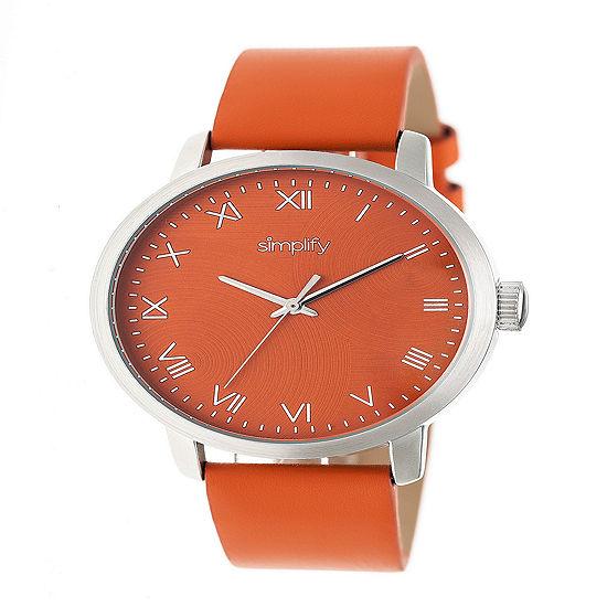 Simplify Unisex Orange Strap Watch-Sim4203