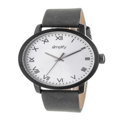 Simplify Unisex Gray Strap Watch-Sim4205