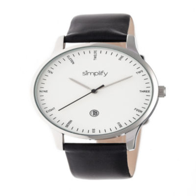 Simplify Unisex Black Strap Watch-Sim4301