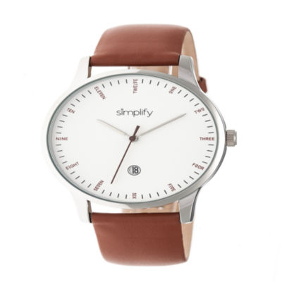 Simplify Unisex Brown Strap Watch-Sim4302