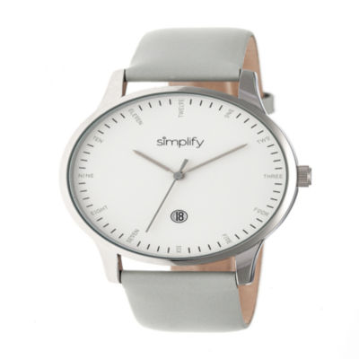 Simplify Unisex Gray Strap Watch-Sim4303