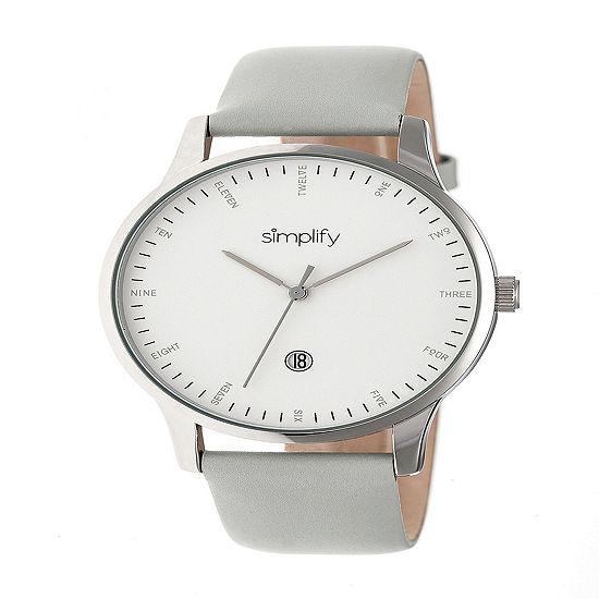 Simplify Unisex Gray Strap Watch Sim4303