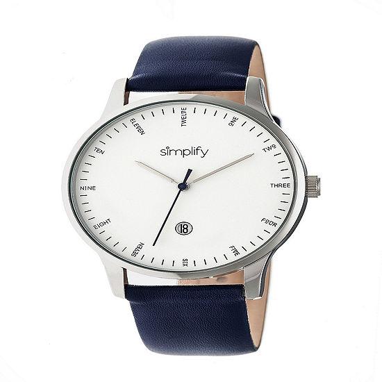 Simplify Unisex Blue Strap Watch-Sim4304