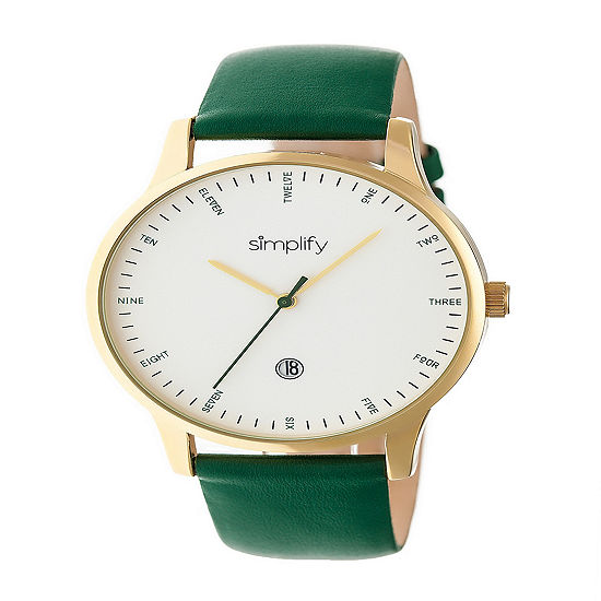 Simplify Unisex Green Strap Watch-Sim4305