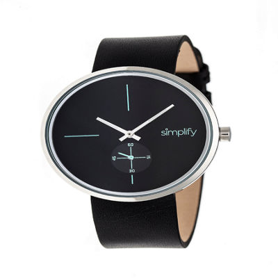 Simplify Unisex Black Strap Watch-Sim4402