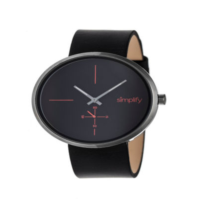 Simplify Unisex Black Strap Watch-Sim4404