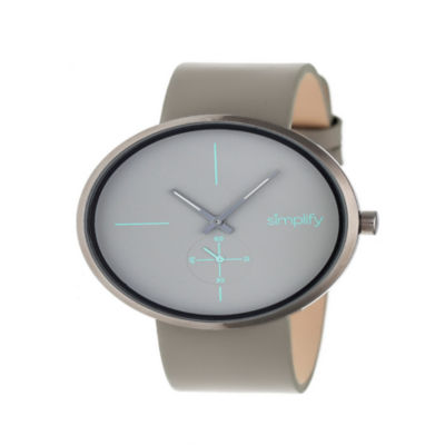 Simplify Unisex Gray Strap Watch-Sim4405