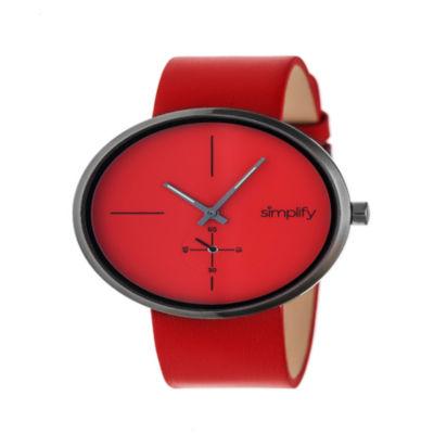 Simplify Unisex Red Strap Watch-Sim4406
