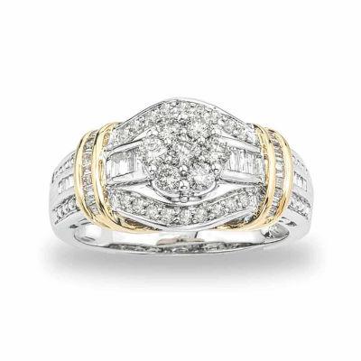 diamond blossom 3/4 CT. T.W. Diamond 10K Two-Tone Gold Ring