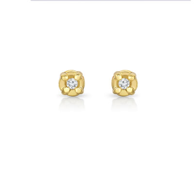 1/6 CT. T.W. Round White Diamond 10K Gold Stud Earrings