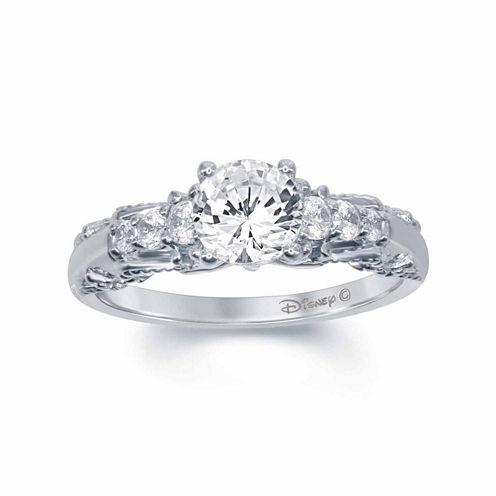 "Enchanted by Disney 1 C.T. T.W. Diamond 14K White Gold ""Snow White"" Ring"