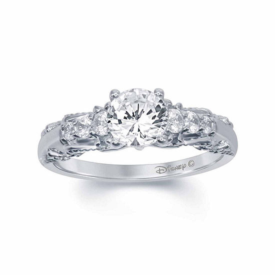 "Enchanted Disney Fine Jewelry 1 C.T. T.W. Diamond 14K White Gold ""Snow White"" Ring"