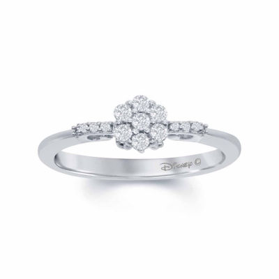 "Enchanted Disney Fine Jewelry 1/4 C.T. T.W. Genuine Diamond 10K White Gold ""Cinderella"" Carriage Ring"