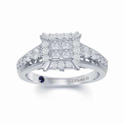 "Enchanted Disney Fine Jewelry 3/4 C.T. T.W. Diamond 14K White Gold ""Cinderella"" Carriage Ring"