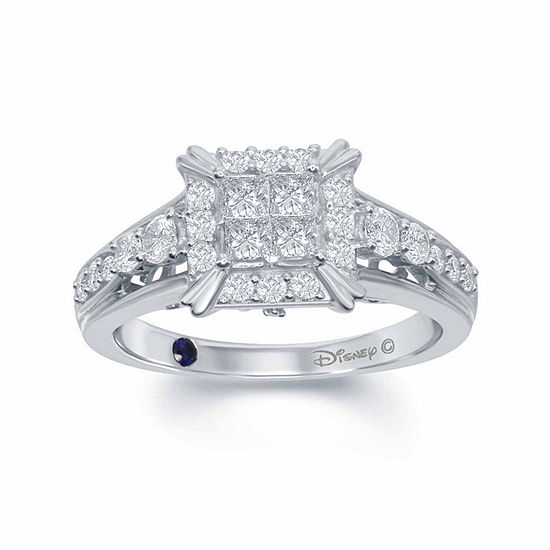 "Enchanted Disney Fine Jewelry 3/4 C.T. T.W. Diamond 14K White Gold ""Cinderella"" Carriage Ring"
