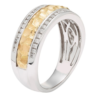 Womens 1/3 CT. T.W. Genuine White Diamond 14K Gold Wedding Band