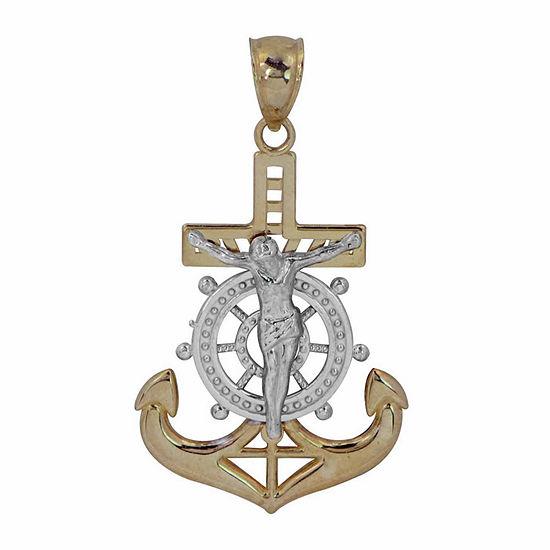 Mens 14K Gold Pendant Necklace