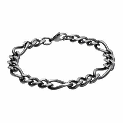 Stainless Steel 8.5 Inch Figaro Chain Bracelet
