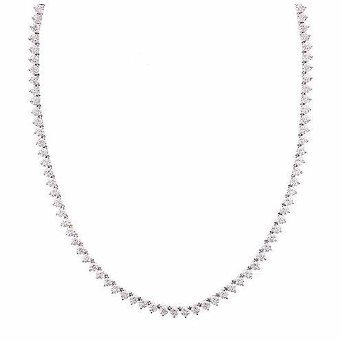Diamonart Sterling Silver 1/7 CT. T.W. Cubic Zirconia Tennis Necklace