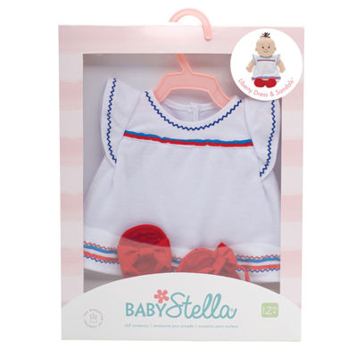 "Manhattan Toy Baby Stella - Liberty Dress & Sandals 15"" Baby Doll Outfit"""