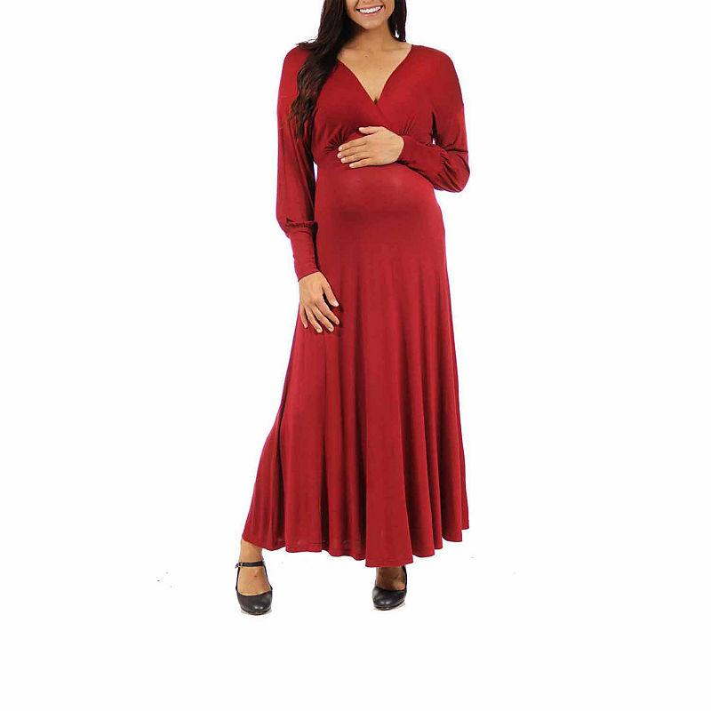 24/7 Comfort Apparel Maxi Dress-Maternity plus size,  plus size fashion plus size appare