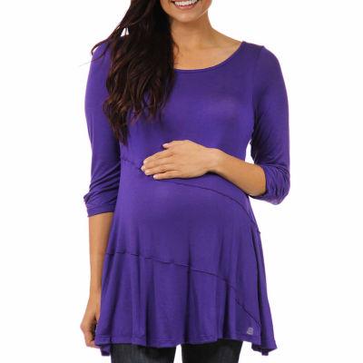 24/7 Comfort Apparel Womens Knit Blouse-Maternity