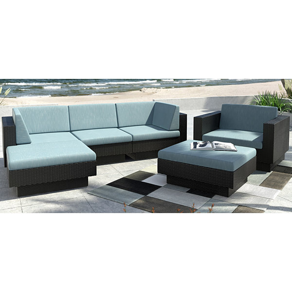 Park Terrace 6-pc. Double Armrest Sectional Patio Set