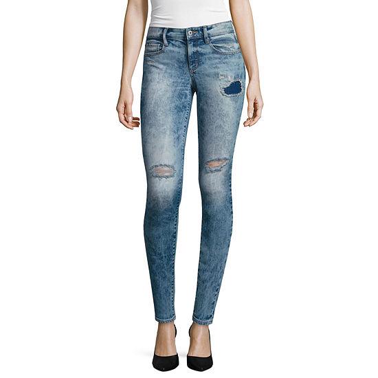 Arizona Womens Low Rise Skinny Fit Jean - Juniors