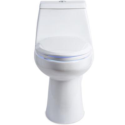 Brondell LumaWarm Heated Nightlight Round Toilet Seat