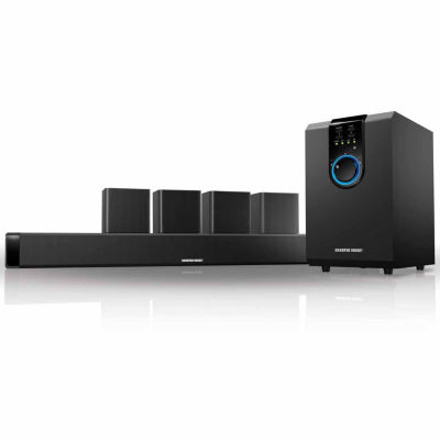 Sharper Image 5.1 Channel Home Theater Sound System with Bluetooth Subwoofer and Sound Bar
