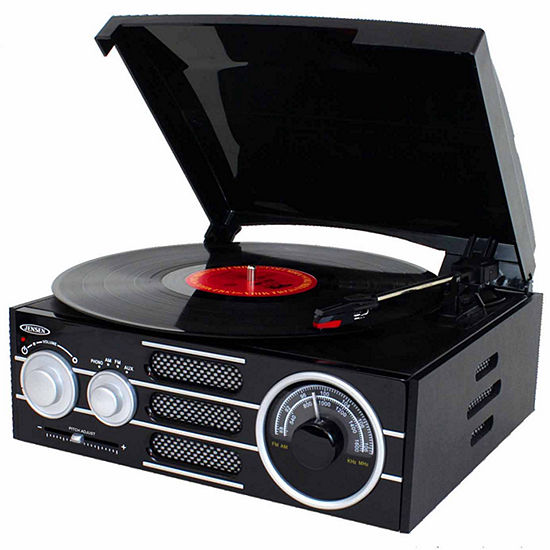 Jensen JTA-300 3-Speed Stereo Turntable with AM/FM Stereo Radio